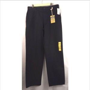 Dockers black flat front Marina dress pants 34/34